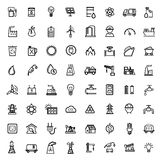 Vector black energy icons set Stock Photography