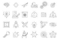 Vector black engineering icons set. On white royalty free illustration