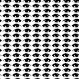 Vector black eyes on a white background Royalty Free Stock Photos