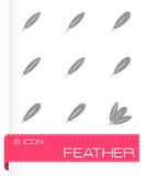 Vector black feather icon set Royalty Free Stock Images