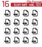 Vector black  file format  icons Stock Photography