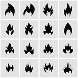 Vector black file icon set. On grey background Royalty Free Stock Photography