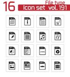 Vector black file type icons set. This is file of EPS10 format Stock Photography