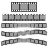 Vector black film frame. Royalty Free Stock Photos