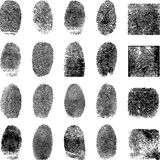 Vector black finger prints Royalty Free Stock Photo