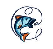 Vector black fish Stock Image