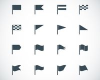 Vector black flag icons Stock Images