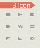 Vector black flags icons set Stock Image