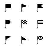 Vector black flags icons set Stock Photos