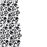 Vector black flower background Stock Photo