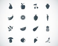 Vector black  food icons Stock Photography