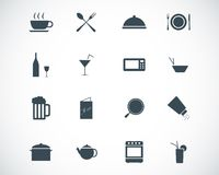 Vector black food icons Royalty Free Stock Photo
