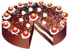 Vector of a black forest cake Stock Images