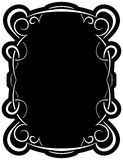 Vector black frame with elegant border Royalty Free Stock Photos