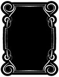 Vector black frame with elegant border Royalty Free Stock Photo