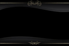 Vector black frame with golden pattern Stock Photos