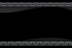 Vector black frame with silver pattern Stock Photos