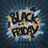 Vector black friday banner, illustration Stock Photos