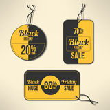 Vector black friday discount labels set Royalty Free Stock Photos