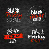 Vector Black Friday lettering signs collection Royalty Free Stock Images