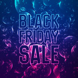 Vector Black Friday Sale abstract background of shining bubbles. Vector illustration on violet background. A Royalty Free Stock Photography