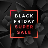 Vector black friday sale background Royalty Free Stock Image