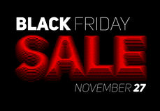 Vector Black Friday Sale background with halftone colored text. Royalty Free Stock Photos
