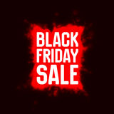 Vector Black Friday Sale background with shining blast of red fireworks. Royalty Free Stock Images