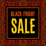Vector Black Friday sale inscription Royalty Free Stock Image