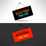 Vector black friday sale promotional banner Royalty Free Stock Image