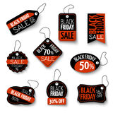 Vector black friday sales tag and banners vector Royalty Free Stock Photo
