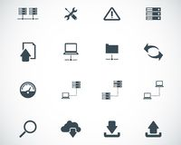 Vector black FTP icon. Set Royalty Free Stock Images