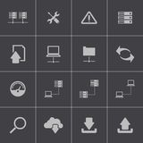 Vector black FTP icon set. This is file of EPS10 format Stock Image