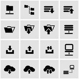 Vector black ftp icon set Royalty Free Stock Photography