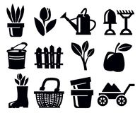 Gardening icons Stock Photography