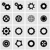 Vector black gear icon set Royalty Free Stock Image