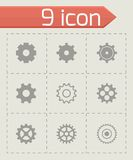 Vector black gear icons set Royalty Free Stock Images