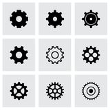 Vector black gear icons set Stock Photos