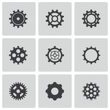 Vector black gear icons set Royalty Free Stock Photography