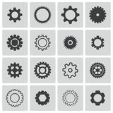 Vector black  gears  icons Royalty Free Stock Image
