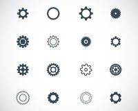 Vector black  gears  icons Royalty Free Stock Photography