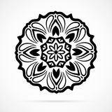 Vector Black Geometry Mandala over white Royalty Free Stock Images