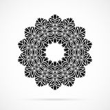 Vector Black Geometry Mandala over white Stock Photos