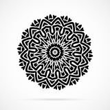 Vector Black Geometry Mandala over white Royalty Free Stock Photography