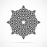 Vector Black Geometry Mandala over white Royalty Free Stock Photo