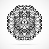 Vector Black Geometry Mandala over white Stock Photo