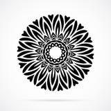 Vector Black Geometry Mandala over white Stock Images