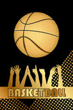 Gold basketball background Royalty Free Stock Image