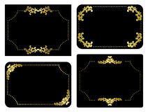 Vector black and gold frames - set Stock Photography