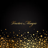 Gold luxury background. Vector black and gold luxury background Stock Images